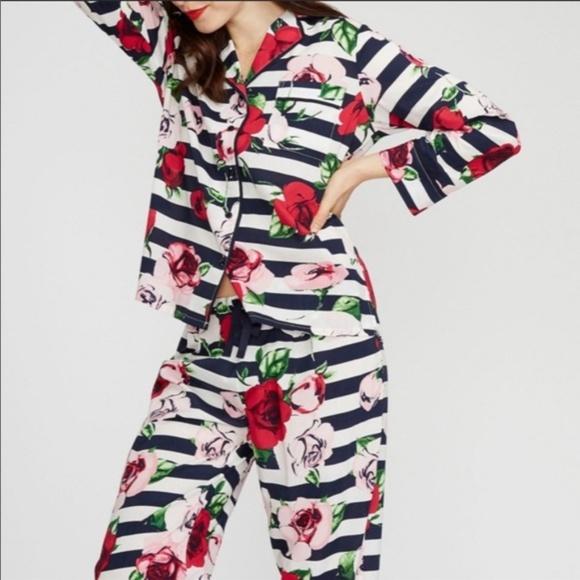 kate spade Other - KATE SPADE Floral Rose Stripe 2 PIECE SET PAJAMA